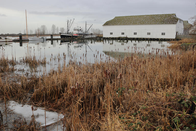 Britannia Shipyard in Winter. The Britannia Shipyard, a historical site in Richmond, BC, Canada during the winter months on December 21, 2016 royalty free stock images