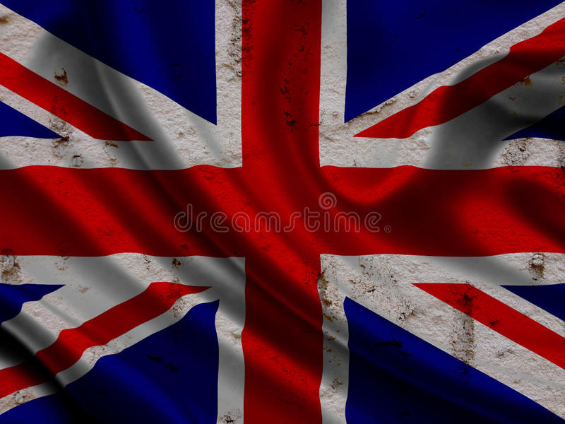 Britannici diminuiscono sul fondo della parete di lerciume fotografie stock libere da diritti