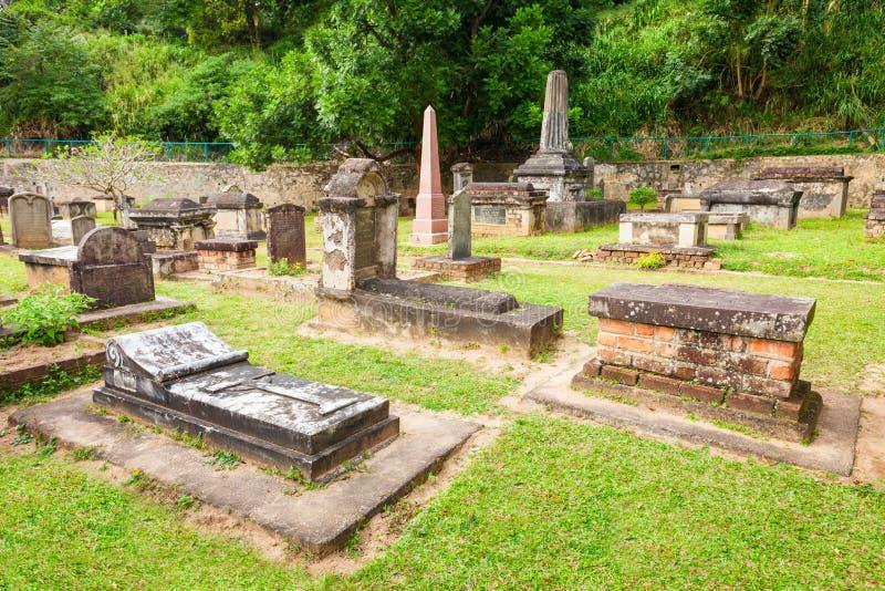Britannici Garrison Cemetery, Kandy immagine stock