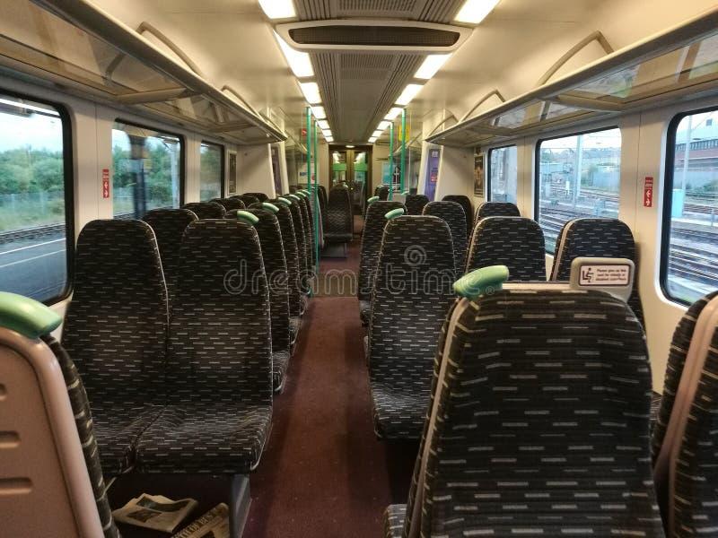 Briten-Zug Essex innerhalb der Sitze stockbilder