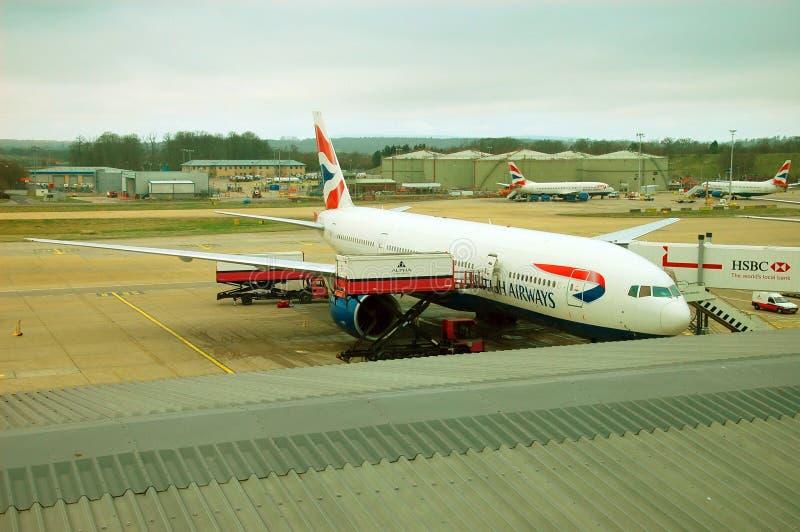 Brithish flygbolagflygplan royaltyfria bilder