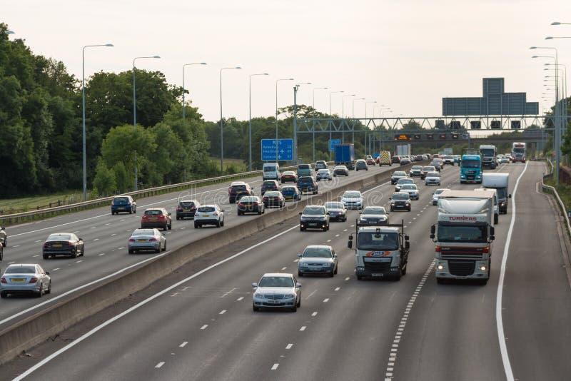Britische Autobahn M25 stockfoto