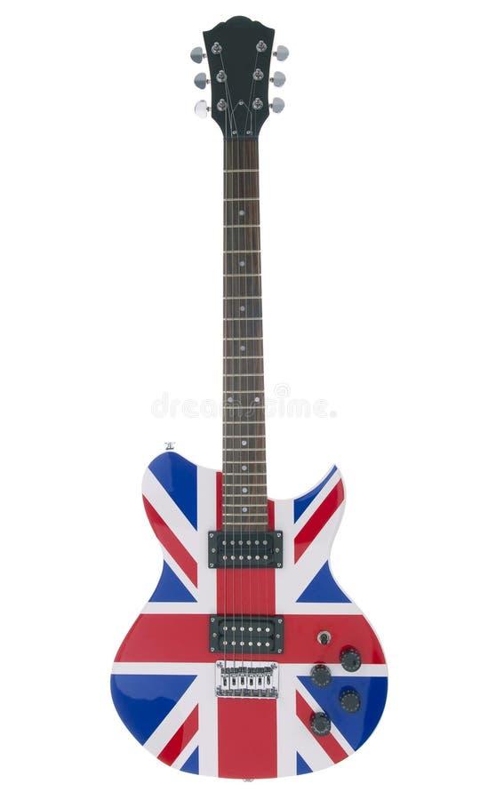 Britische elektrische Gitarre lizenzfreie stockbilder