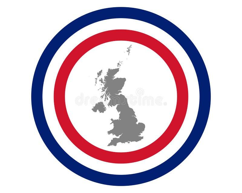 Britische Flagge und Karte stock abbildung