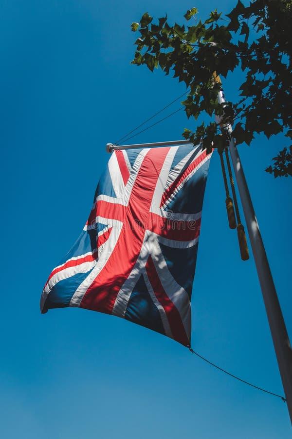 Britische Flagge, Union Jack, Verbandsflagge stockfotos