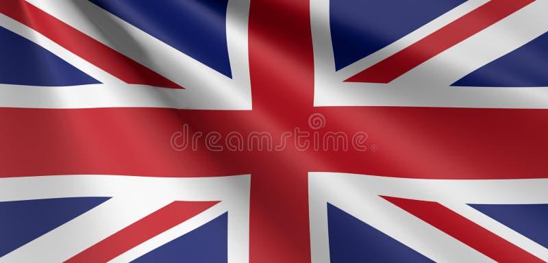 Britische Flagge von Wellenartig bewegen Vereinigten Königreichs lizenzfreie abbildung