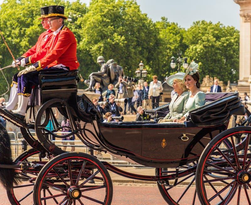 Britische Königsfamilie stockbilder