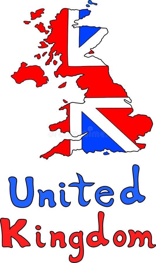 Britische Karte Vereinigten Königreichs stock abbildung