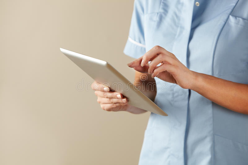 BRITISCHE Krankenschwester lizenzfreie stockbilder