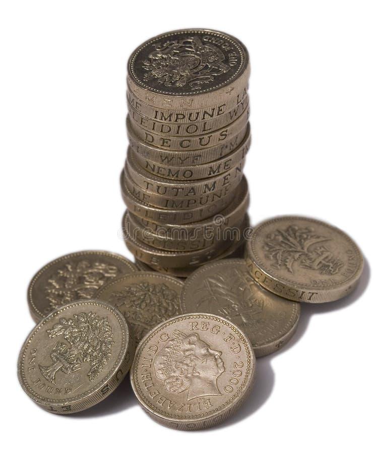 BRITISCHE Münzen £1 getrennt lizenzfreie stockbilder