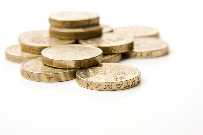 BRITISCHE Münzen stockfotos