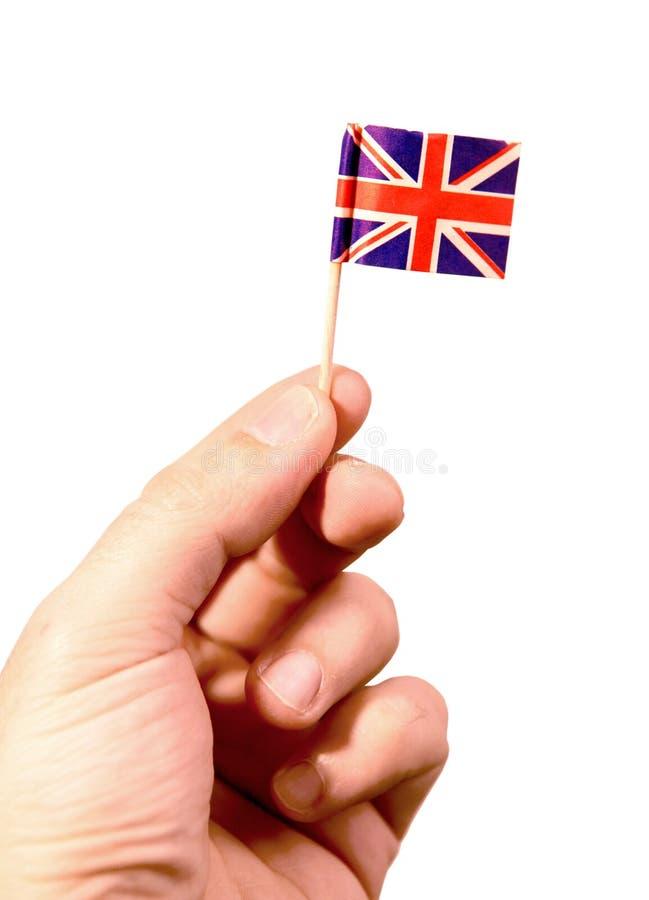 Britische Markierungsfahne (Ausschnittspfad) stockfoto