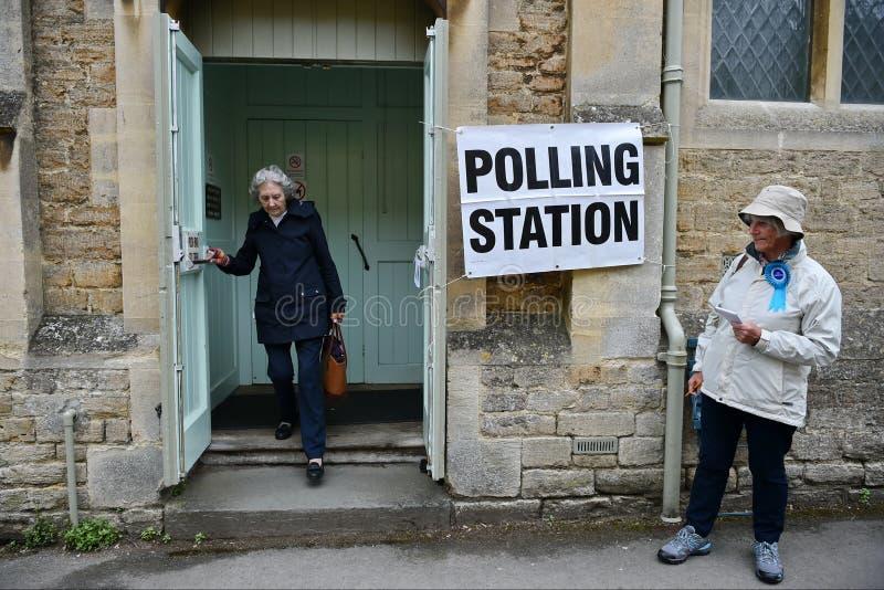 BRITISCHE Parlamentswahl stockbild