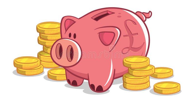 Britische Piggy Querneigung stockbild