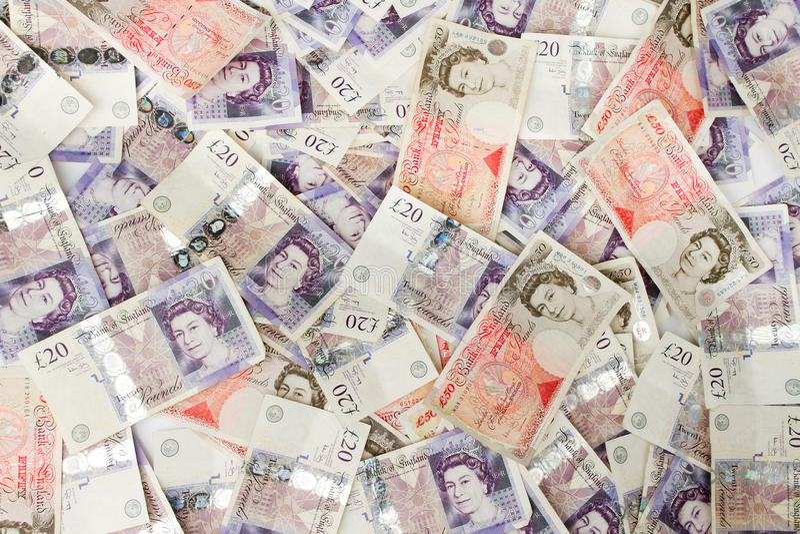 Britische Pounds Hintergrund lizenzfreie stockfotografie