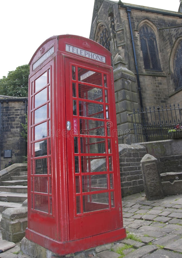 Britische rote Telefonzelle stockfoto
