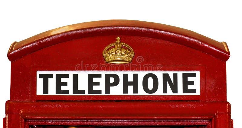 Britische Telefonzelle-Nahaufnahme lizenzfreie stockfotografie