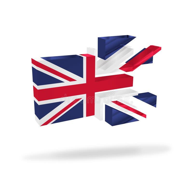 Britische Union- Jackflaggenauflösung brechen oben Unabhängigkeitsreferendum Brexit lizenzfreie abbildung