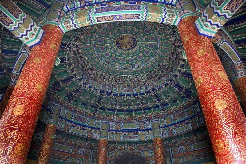 Britische Wölbung innerhalb des Tempels Peking lizenzfreie stockfotos