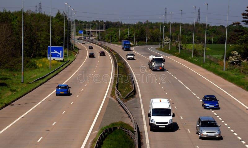 BRITISCHER Autobahn-Verkehr lizenzfreies stockbild