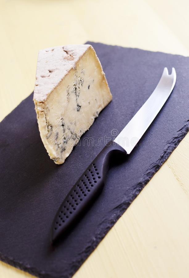 Britischer blaugeäderter Stilton-Käse stockfoto