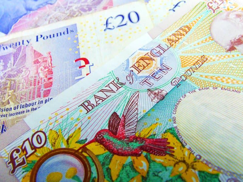 Britischer BRITISCHER Sterling Bank Notes lizenzfreie stockfotos