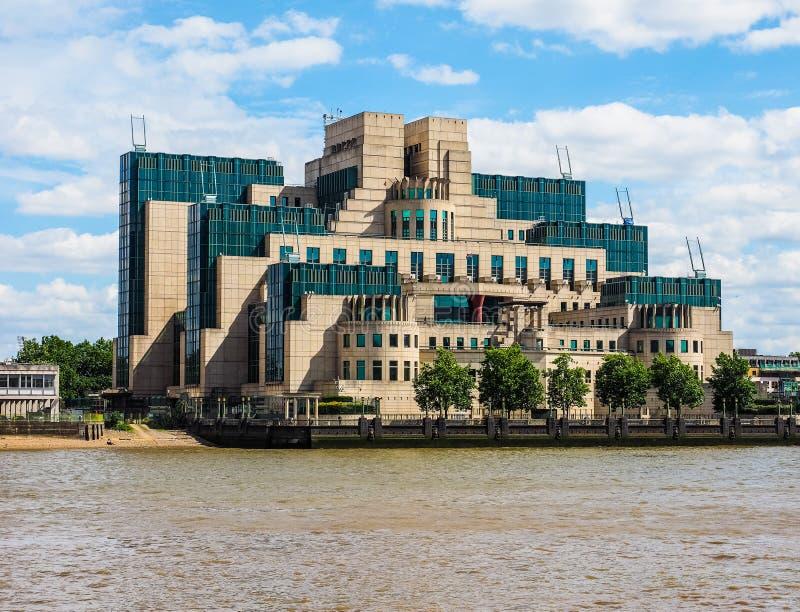 Britischer Geheimagent in London (hdr) lizenzfreies stockfoto
