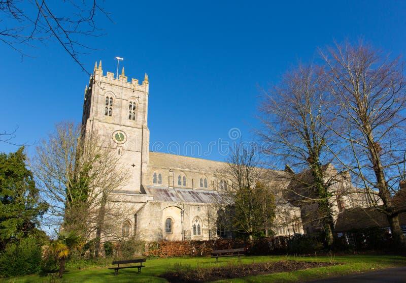BRITISCHER Grad des 11. Jahrhunderts I Christchurch-Kloster-Dorsets England listete Kirche auf lizenzfreie stockfotos