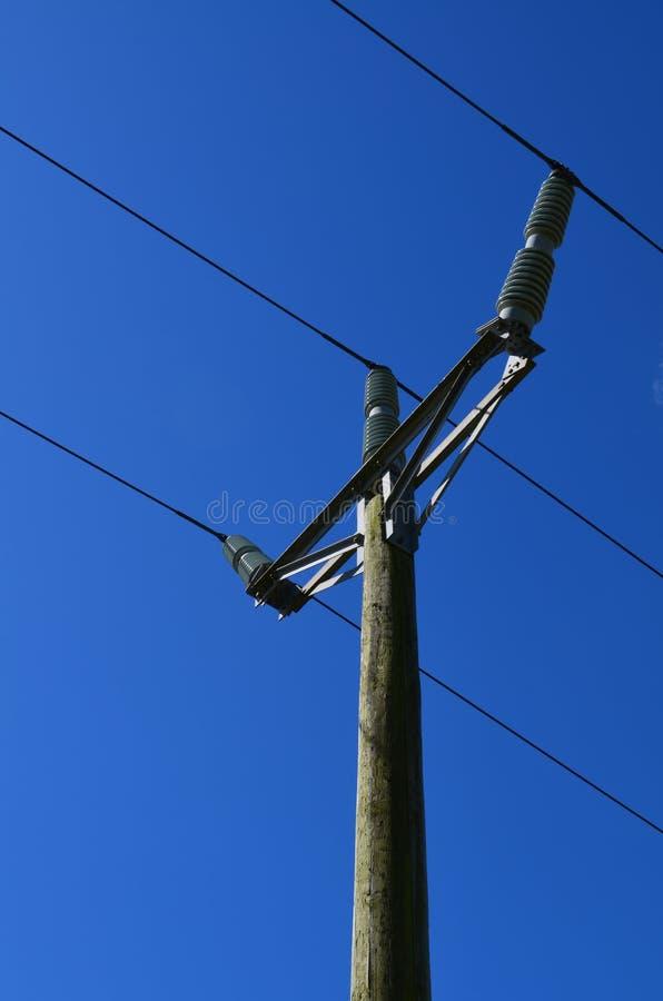 Britischer ländlicher Strompfosten lizenzfreie stockbilder
