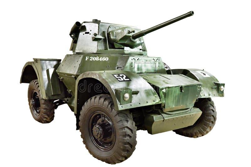 Britischer Panzerkampfwagen Daimler lokalisierte lizenzfreies stockbild