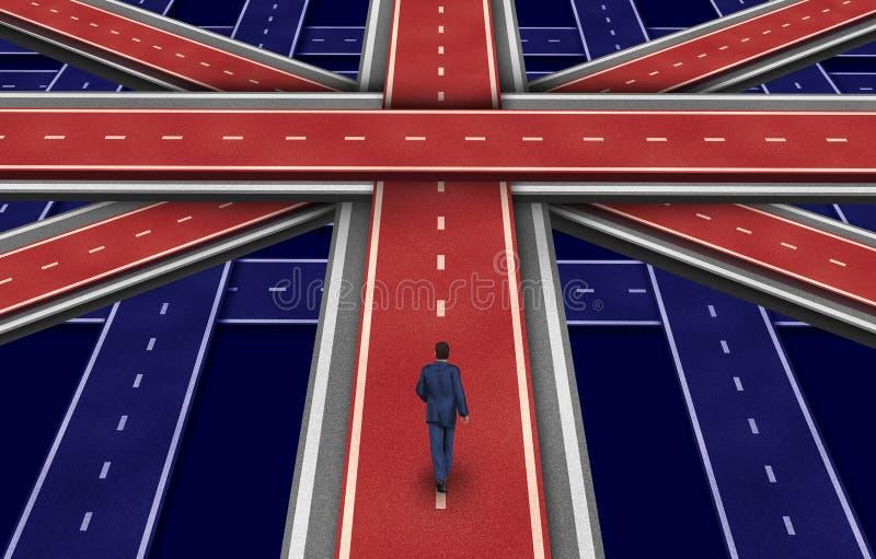 Britischer Plan stock abbildung