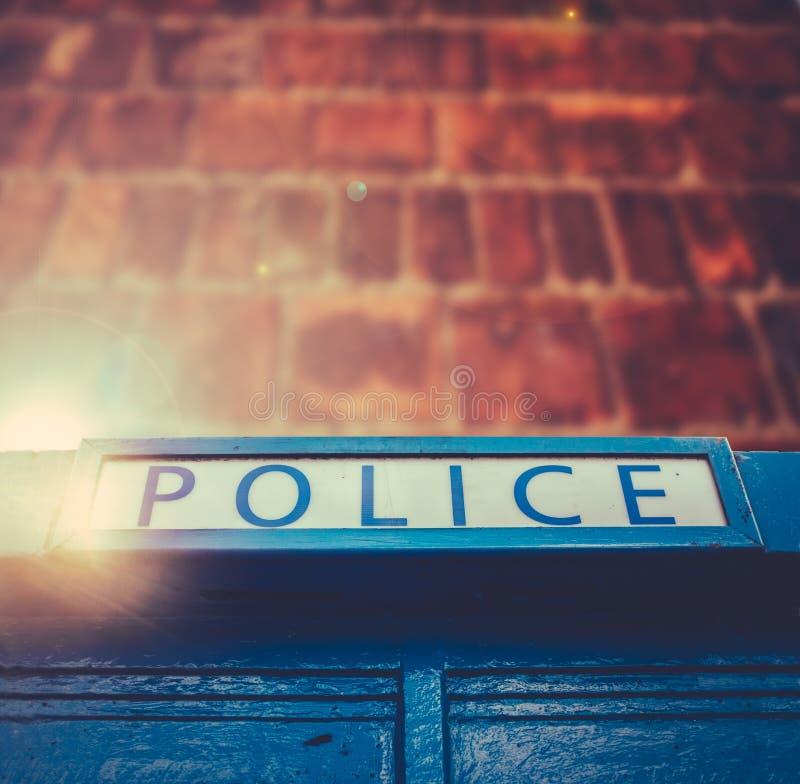 Britischer Polizei-Kasten lizenzfreie stockbilder