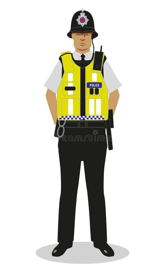 Britischer Polizist - hallo Kraft stock abbildung