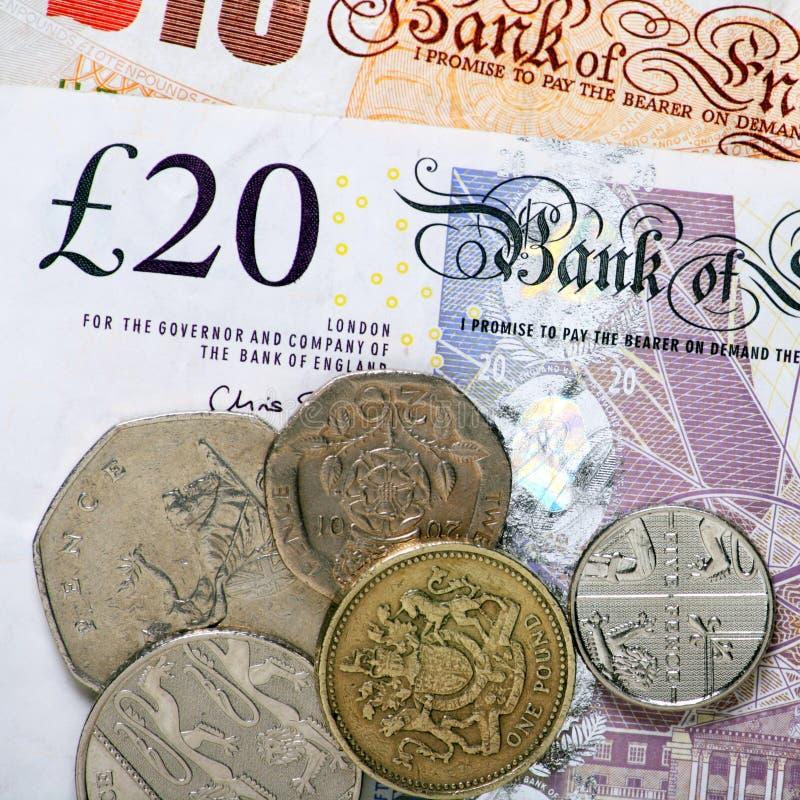 Britisches Bargeld stockfotos