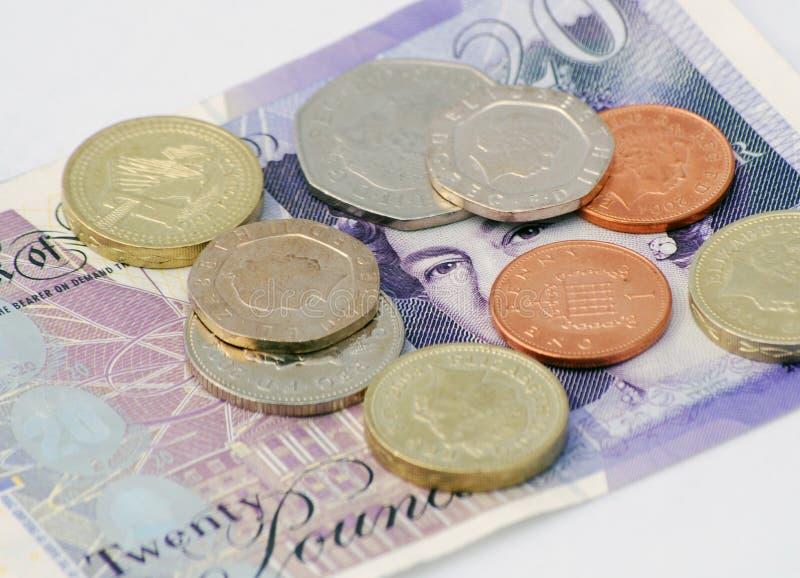Britisches Bargeld lizenzfreies stockbild