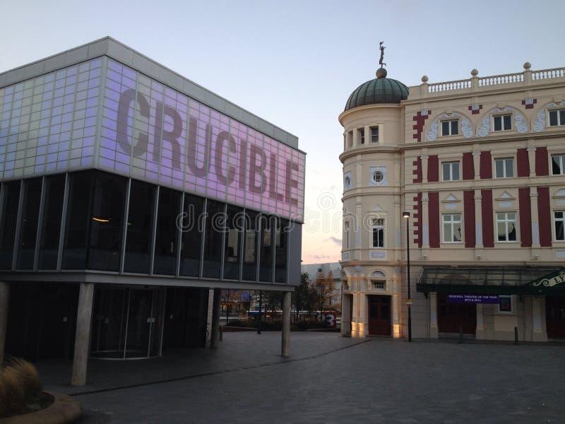 Britisches England Yorkshire Sheffield das Tiegel-Theater stockbild