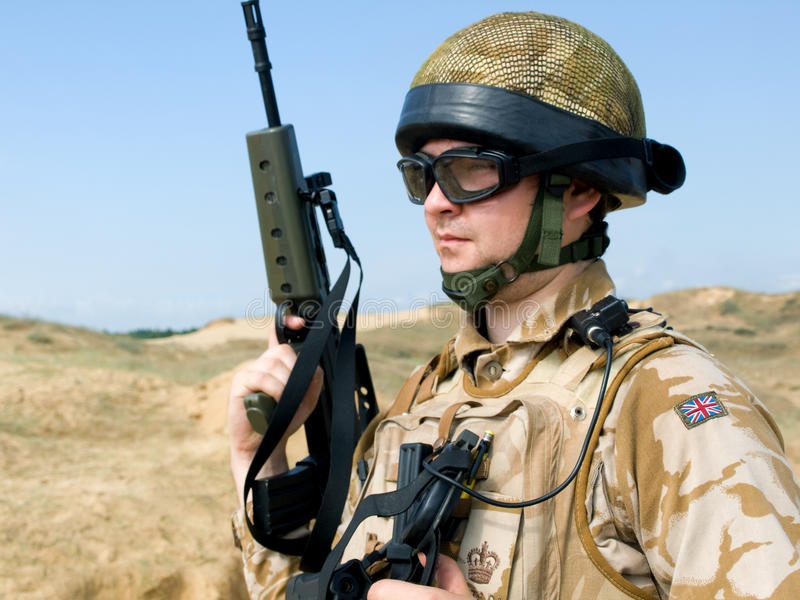 Britisches königliches Kommando stockbilder