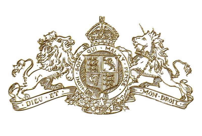 BRITISCHES königliches Wappen Symbol vektor abbildung