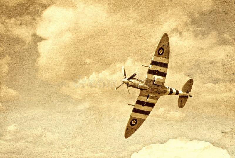 Britisches Kampfflugzeug des Weltkriegs 2 stockfoto