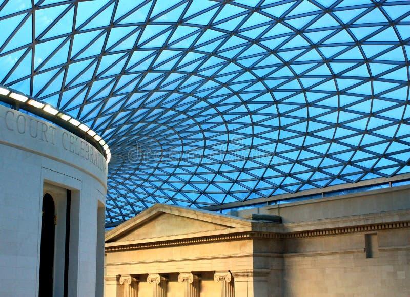 Britisches Museumsdach. lizenzfreie stockfotos
