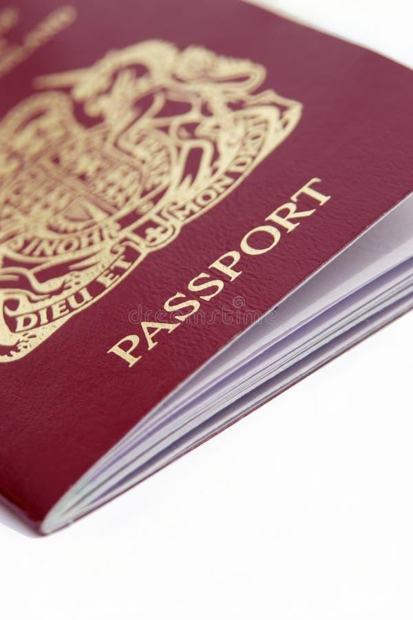 Britisches Pass-Detail stockfotos