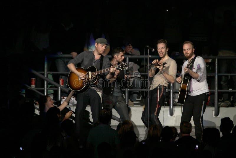 Britisches Rockband Coldplay stockbild