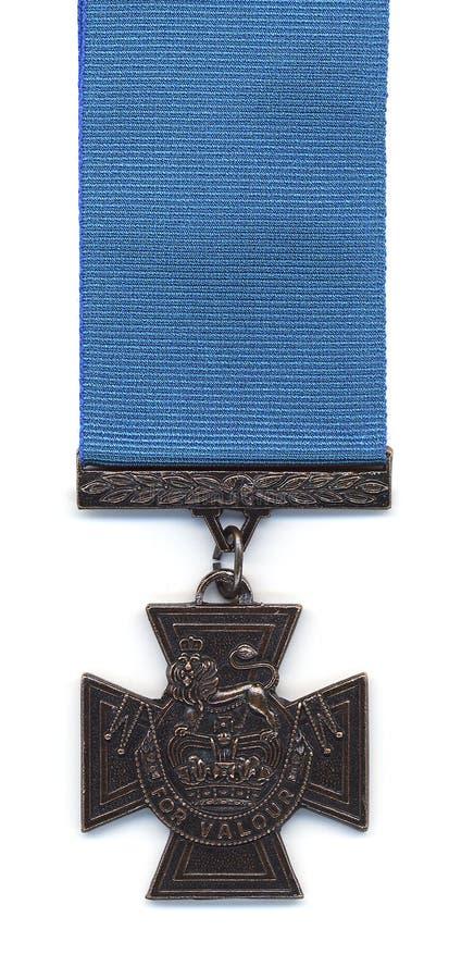 Britisches Victoria-Kreuz - blaues Farbband stockfotografie