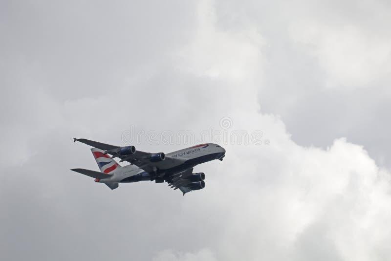 British Airways Aerobus A380 zdjęcia stock