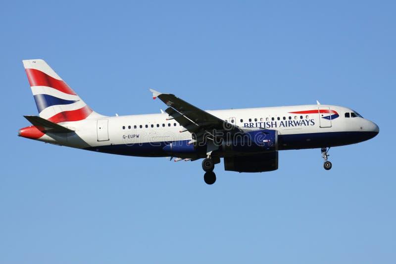 British Airways Airbus A319-100 photographie stock libre de droits