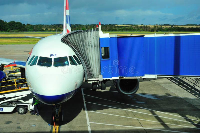 British Airways Airbus imagem de stock royalty free