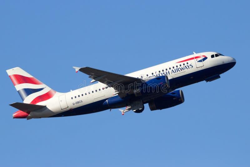 British Airways Airbus A319 photographie stock libre de droits