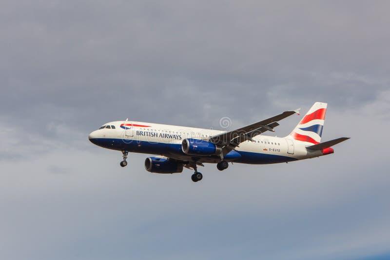 British Airways - airbus A320 στοκ φωτογραφία με δικαίωμα ελεύθερης χρήσης