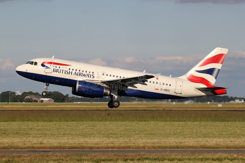 British Airways Airbus A319-100 royalty free stock image