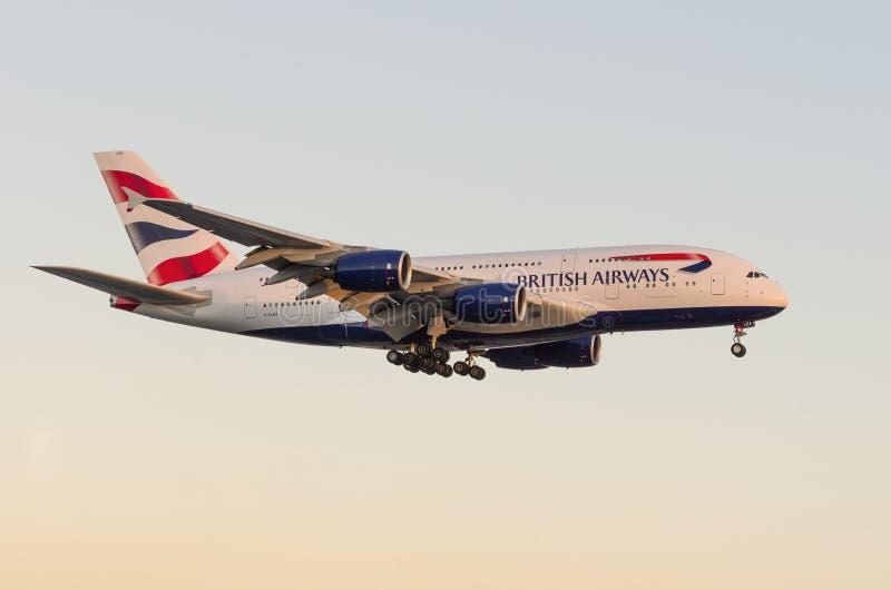 British Airways Airbus A380 images stock